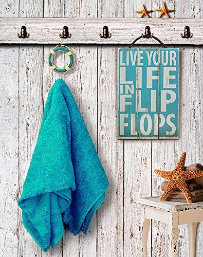 Vintage Wooden Signs Home Decor Impressive Live Your Life In Flip Flops Vintage Wood Beach Sign  Best Beach 2018