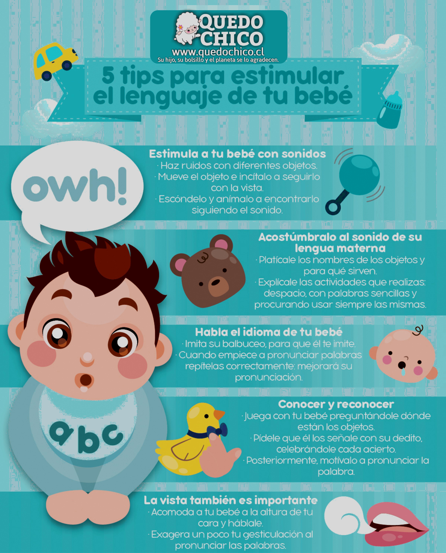 ¡Sigue estos tips para estimular el lenguaje de tu bebé! #QuedoChico