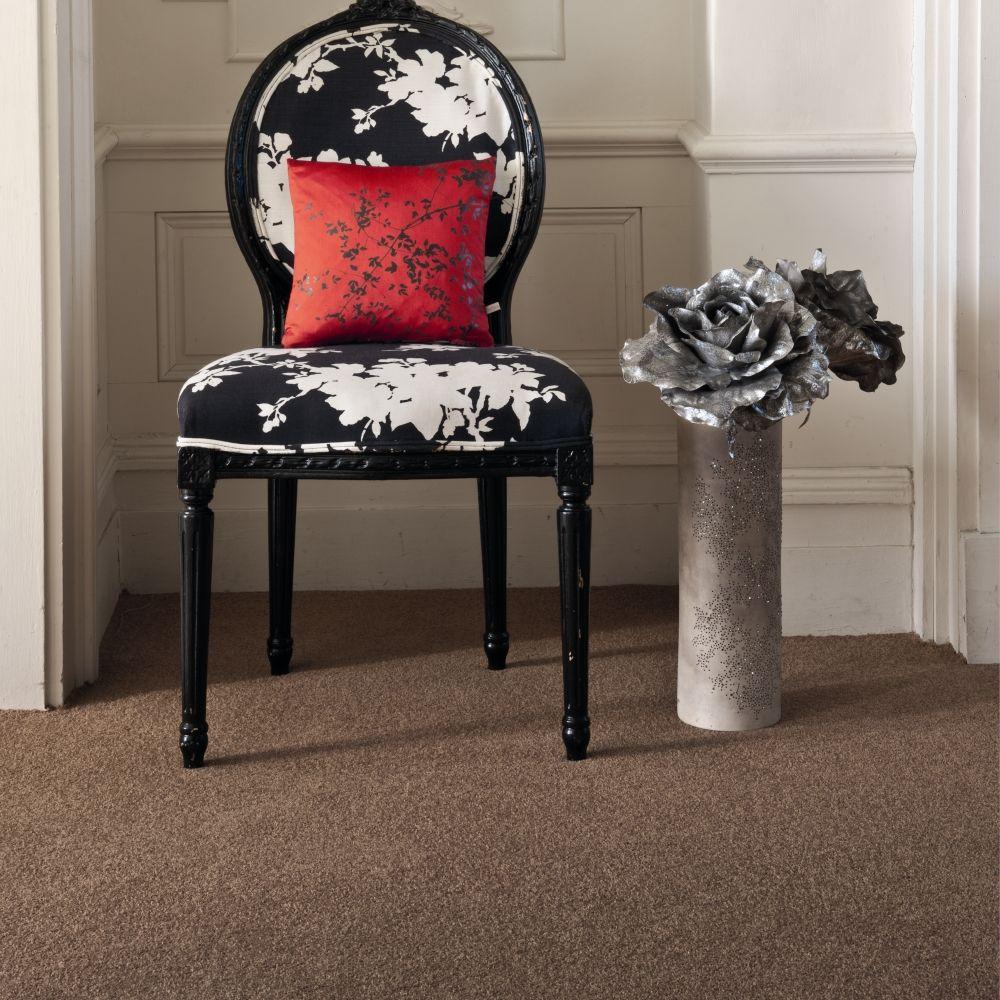 Striped carpet, plain, patterned and light brown carpet
