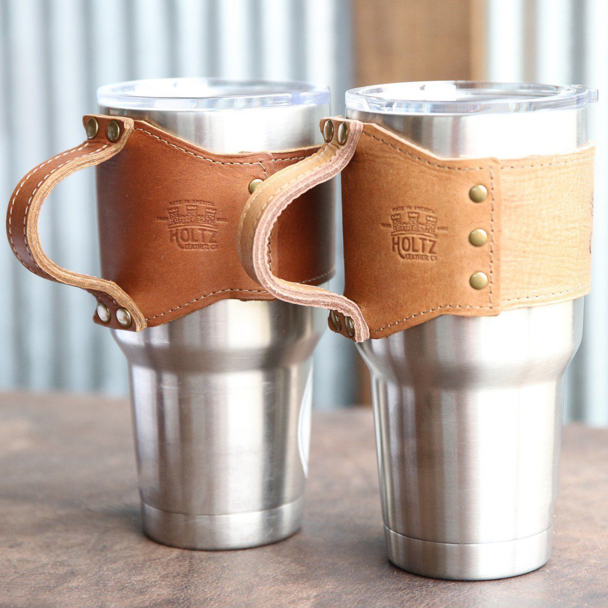 The Rocket City Leather Wrap with Handle For 30 oz Yeti