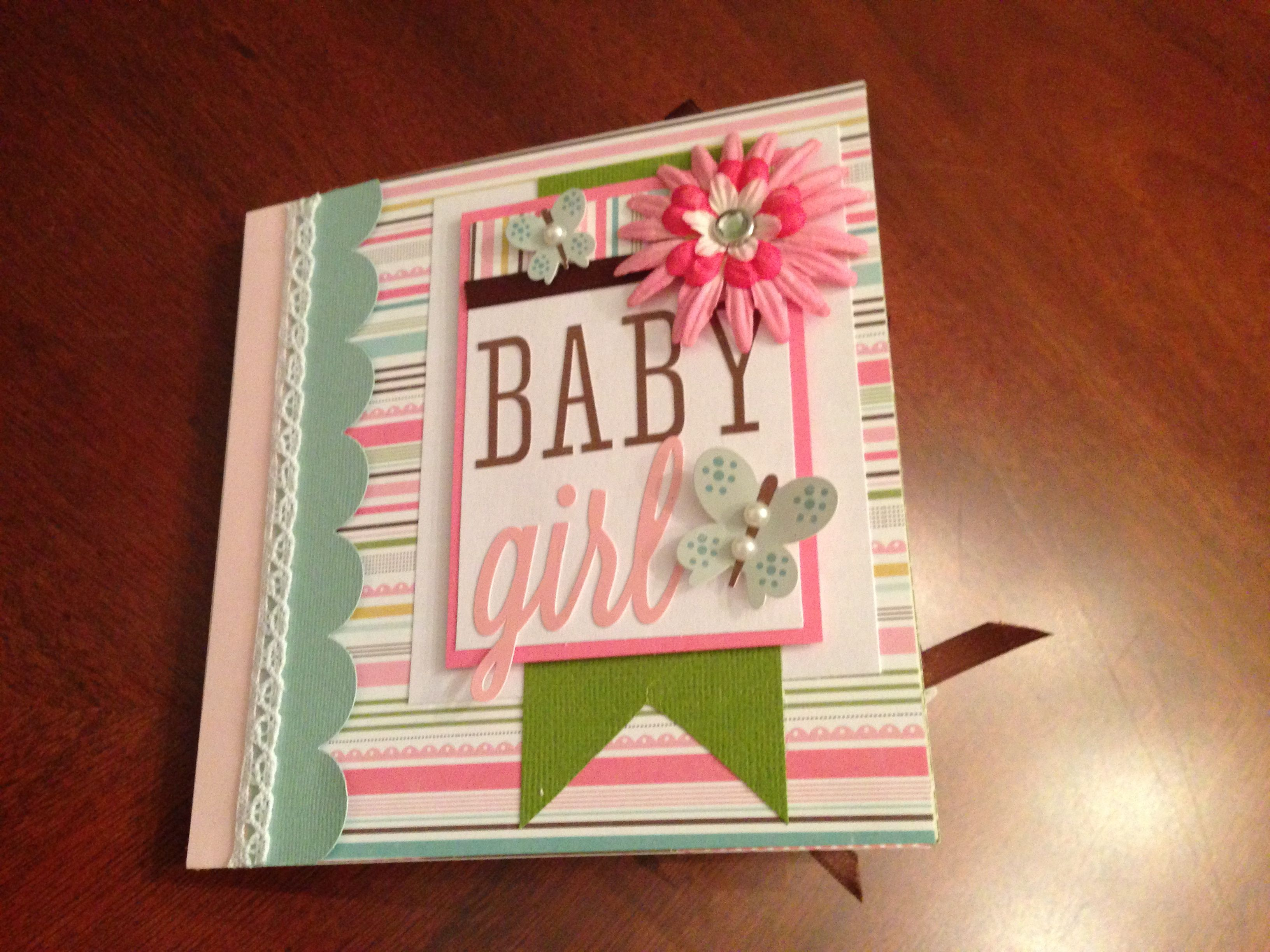 Baby Book Cover Ideas : Baby girl mini album cover page albums pinterest