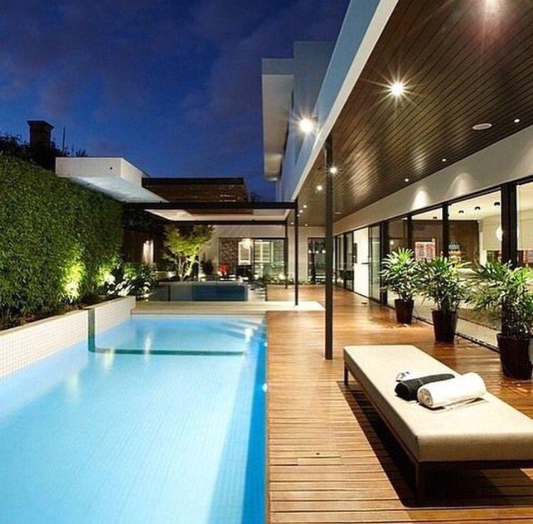 Diseño Terraza Alberca Piscina Decks De Piscina Quintal