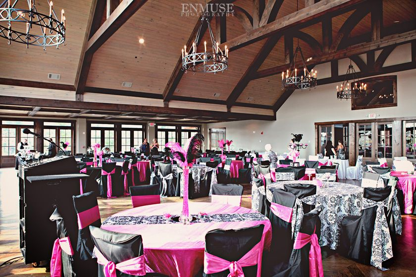 Foxhall Wedding At Legacy Lookout Enmuse Photography Black White Pinkthe Whiteblack Decorwhite