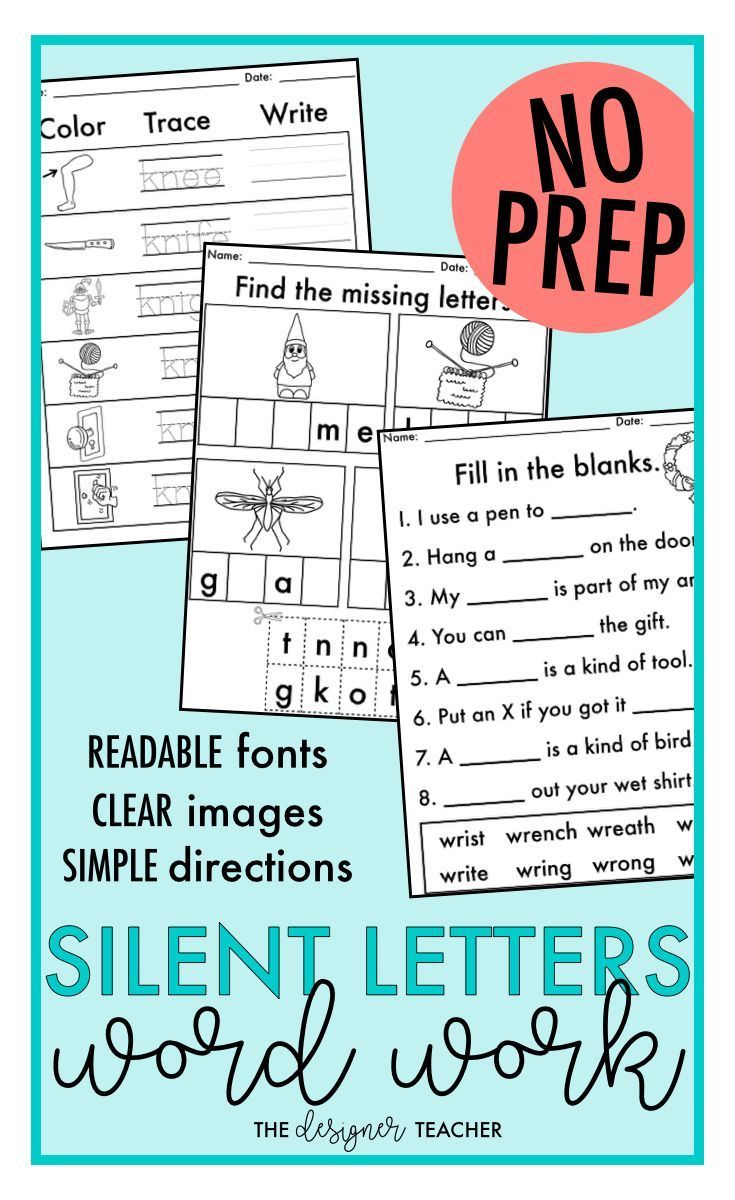 Workbooks soft g and c worksheets : NO PREP Trigraphs TCH DGE, Silent Letters, Soft C Soft G Word Work ...
