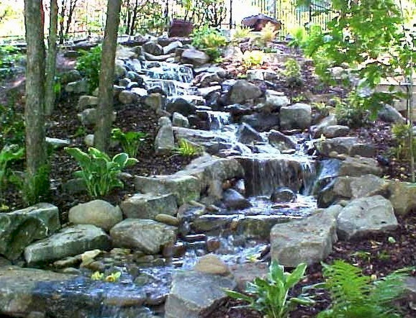 Pondless Backyard Waterfall Garden Ideas 8 Waterfalls Backyard Ponds Backyard Backyard Garden Landscape