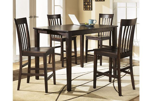 Hyland Counter Height Dining Room Table And Bar Stools Set