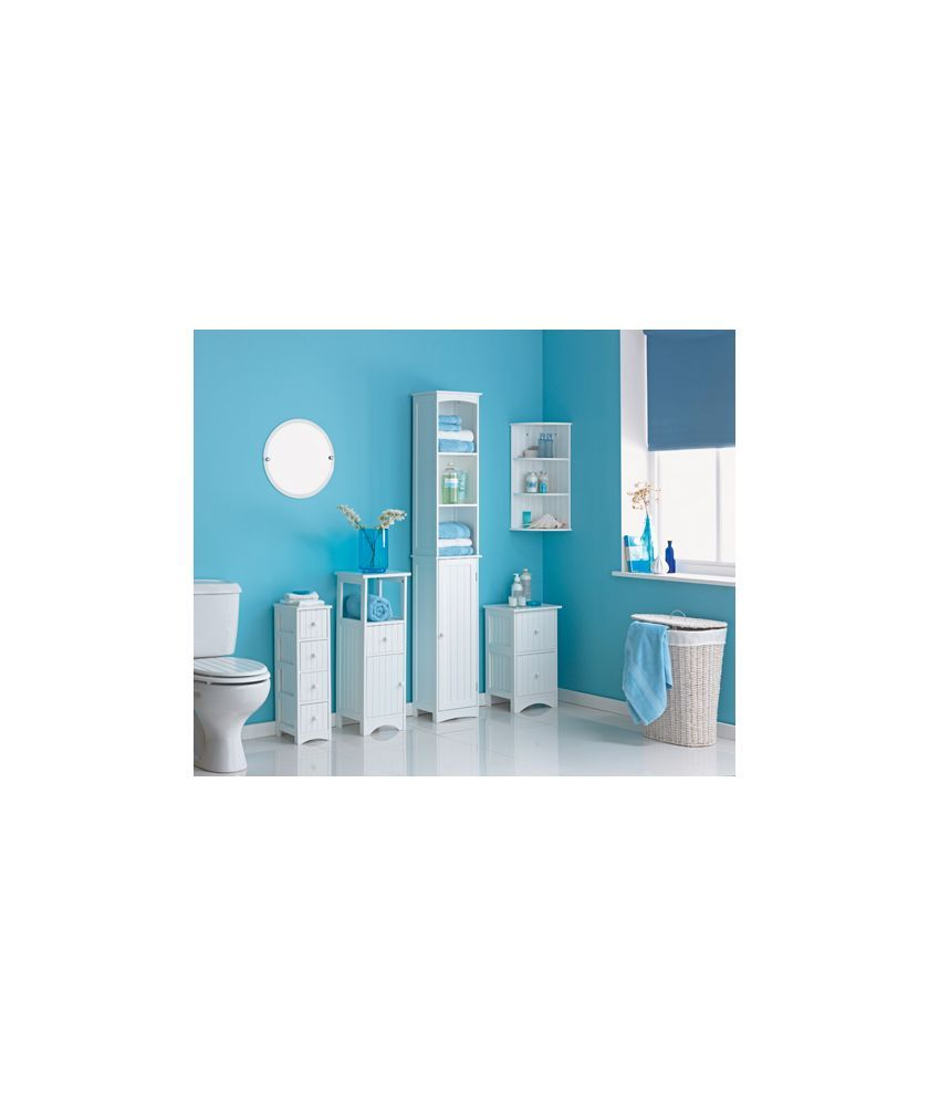 Buy HOME Tongue and Groove Tall Cabinet - White at Argos.co.uk ...