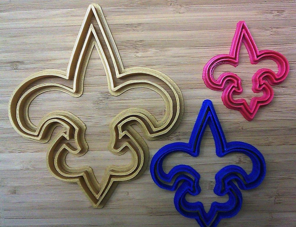 New Orleans Saints Cookie Cutter - Choice of Size (Sports Football) - 3D Printed #Handmade3DPrint