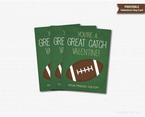 Football Valentines Cards Classroom Valentines Kids Valentines – Great Valentines Cards