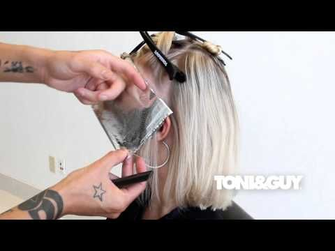 How to Color & Highlight Hair   TONI Hair Color Technique ...