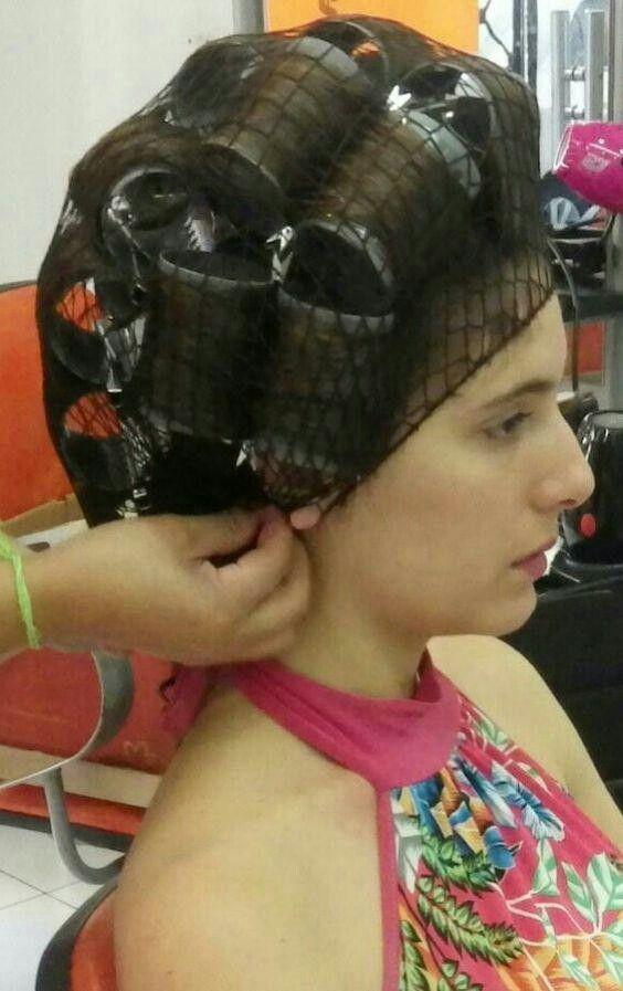 Hair roller fetish female