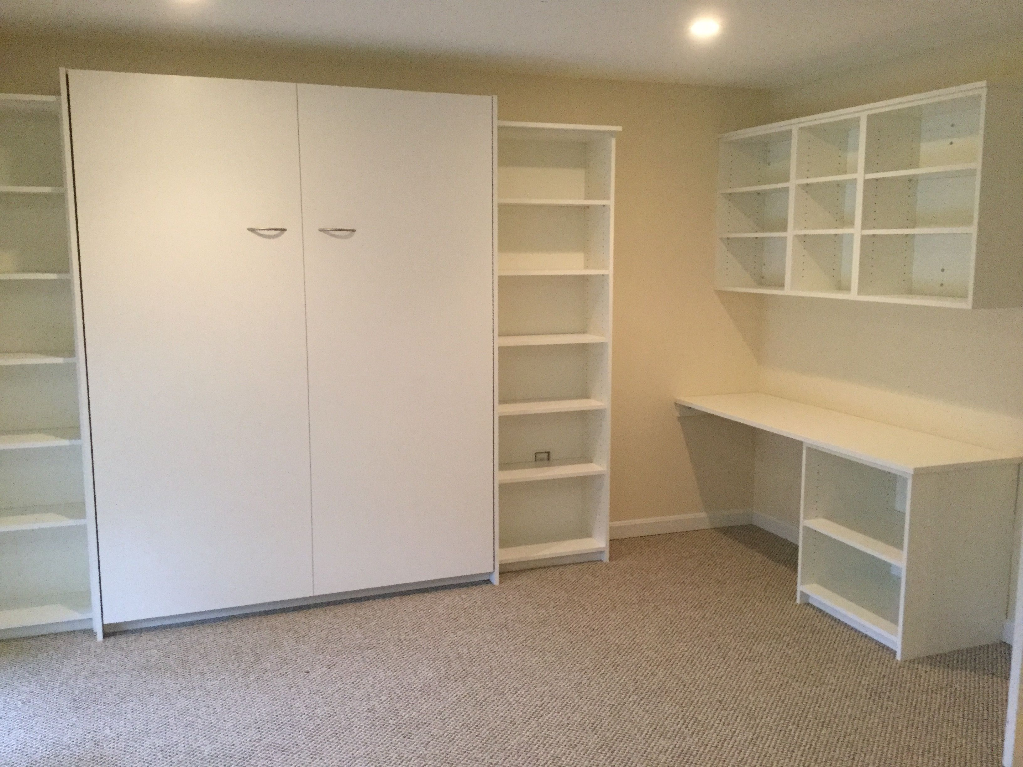 Murphy bed and home office all in one room maximize your guest room