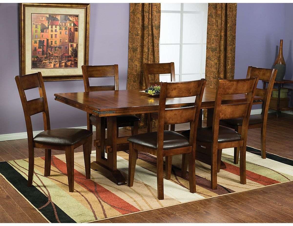 Magnus 7 Piece Dining Package Magnuspk7  The Brick  For The Stunning Dining Room Accent Pieces Inspiration Design