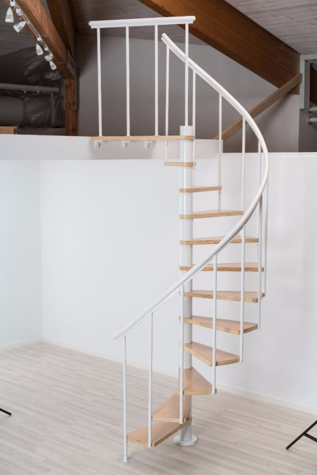 Best Dolle Calgary White Spiral Stair Kit 1200Mm In 2020 400 x 300