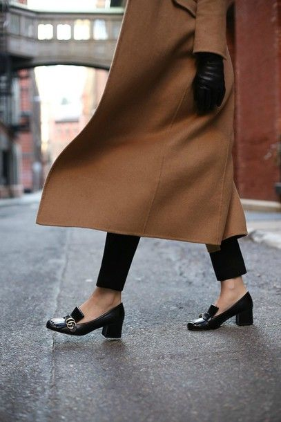 079f57e5a9d Shoes  the classy cubicle blogger coat pants hat belt gloves bag tumblr  black mid heel pumps pilgrim