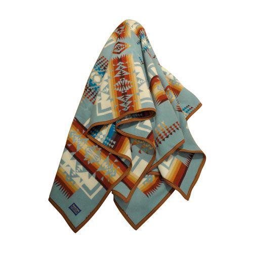 Pendleton blanket Chief Joseph Collection Aqua | Harpo Paris