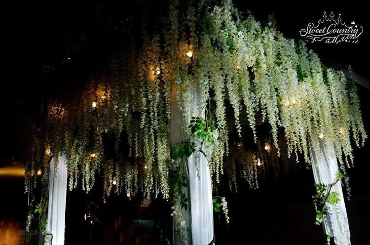 110cm silk wisteria garland artificial wisteria flower garlands 110cm silk wisteria garland artificial wisteria flower garlands perfect for wedding decoration home decorations 48pc mightylinksfo
