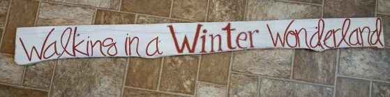 "4 ft ""Winter Wonderland"" sign!"