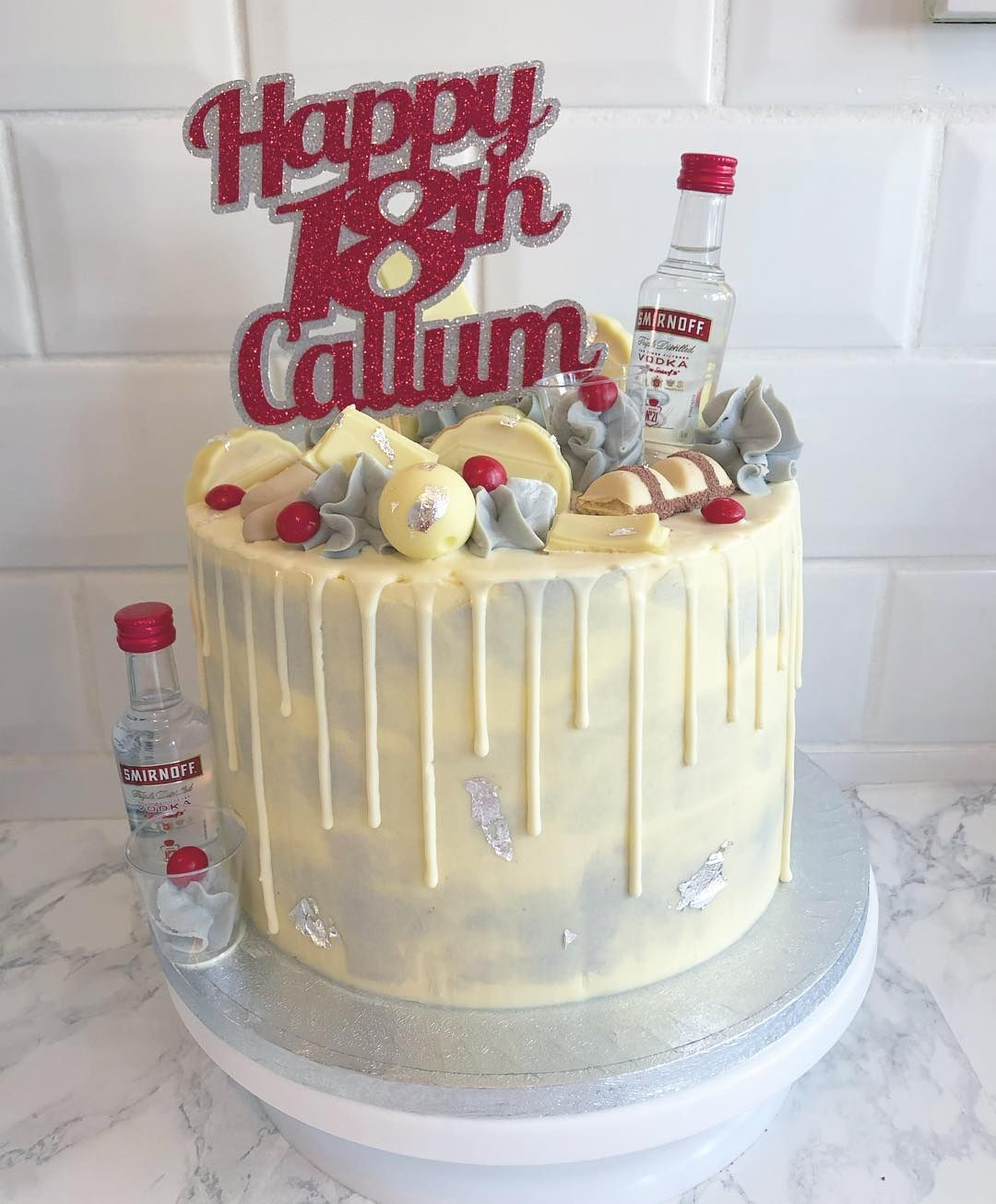 Tremendous Cally Cook On Instagram 18Th Birthday Cake Love This Smirnoff Funny Birthday Cards Online Fluifree Goldxyz
