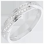 acheter en ligne Bague tresse précieuse or blanc et diamants
