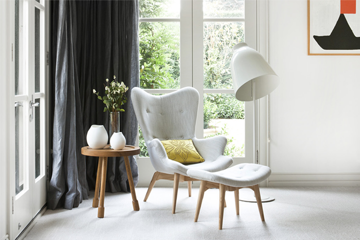 Marvelous This Grant Featherstone Contour Lounge Chair And Foot Stool Are The Perfect  Combination With The Side Table And Floor Light. What A Great Reading Nook.