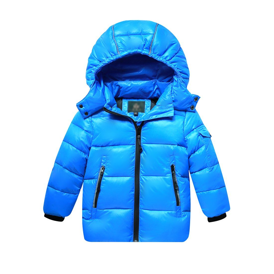 Boys Girls Puffer Jacket Winter Down Coats With Removable Hood Sky Blue 2 3t Stand Collar Removable Zip Off Ho Girls Puffer Jacket Winter Jackets Down Coat [ 1100 x 1100 Pixel ]