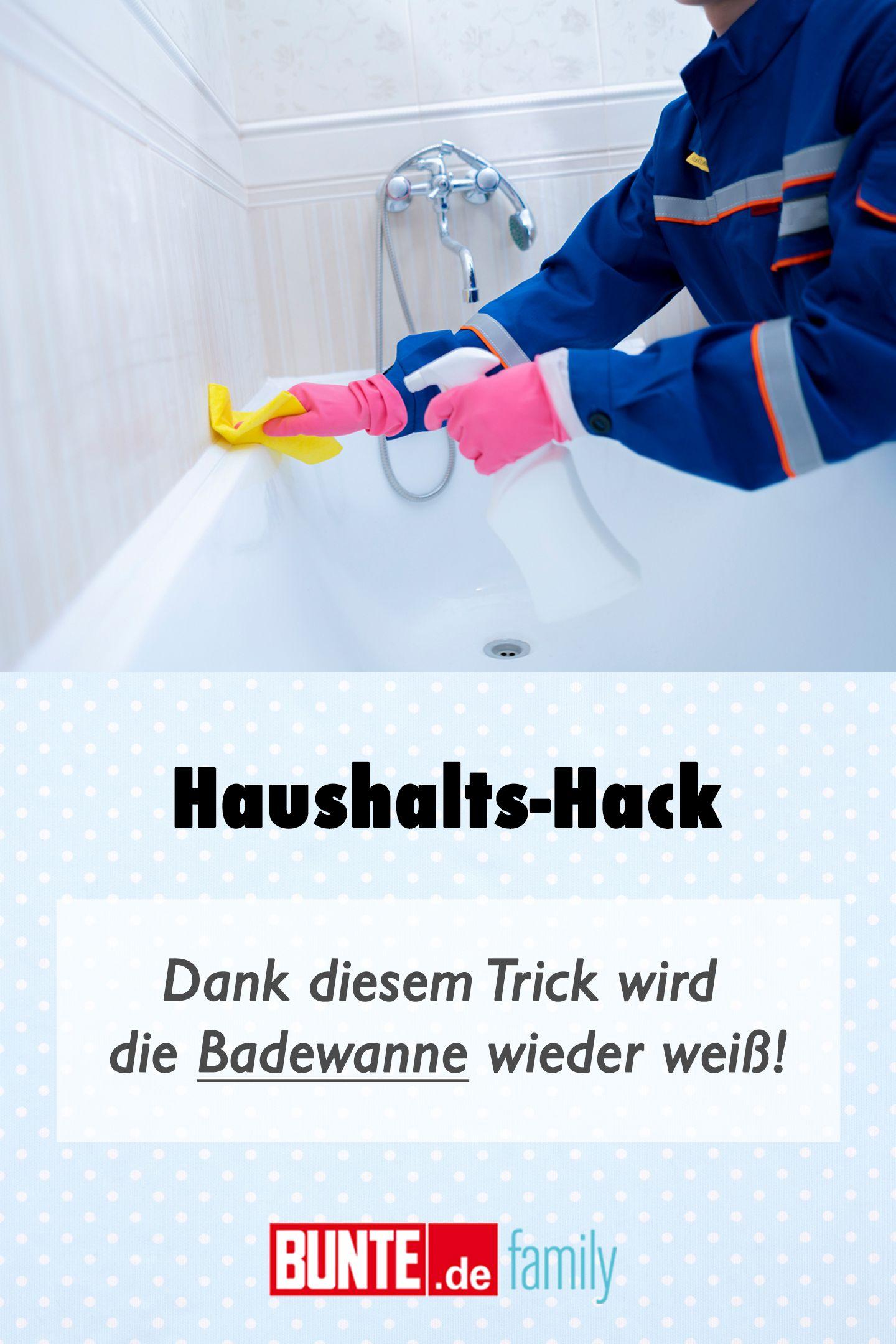 Haushalt Hack Dank Diesem Trick Wird Die Badewanne Wieder Weiss In 2020 Mit Bildern Badewanne Haushalt Tricks