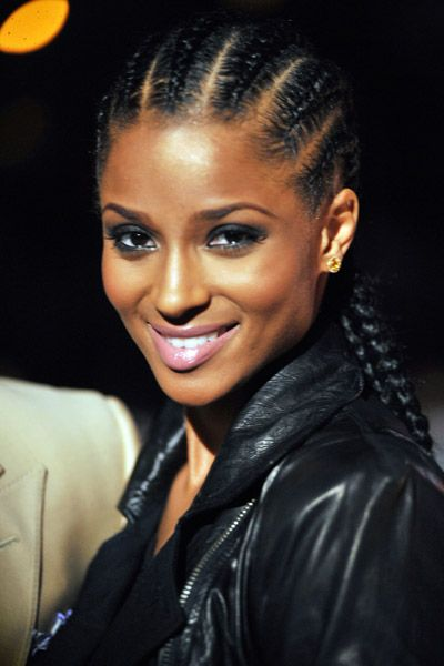 Ciara wearing French braids | Hair Effects | Pinterest | French ...