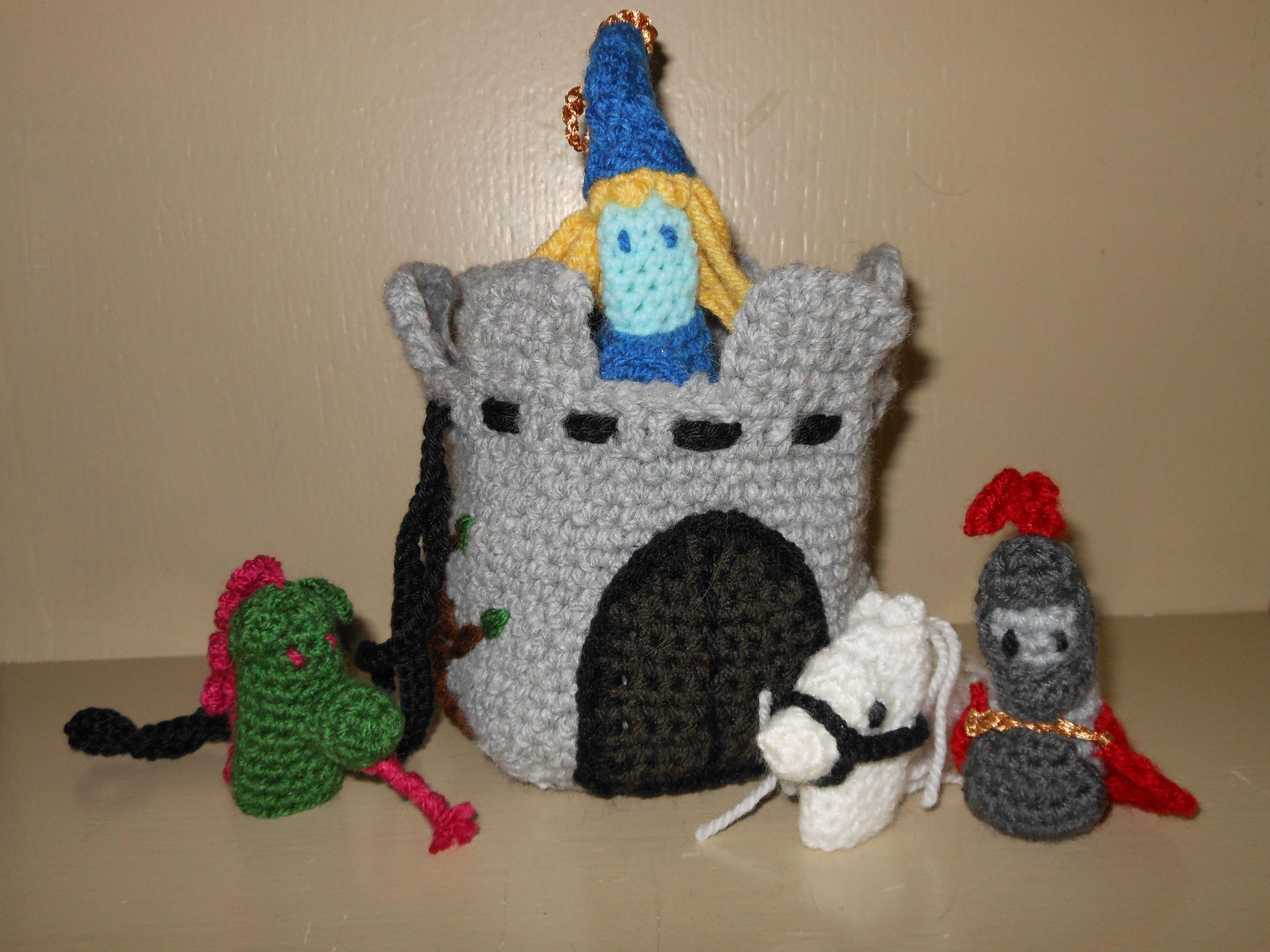 vingerpopjes paard ridder princes draak en een kastelentasje
