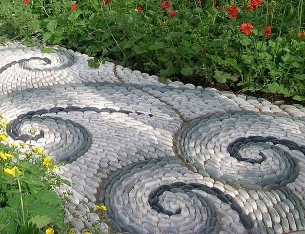 Cool Pebble Pathway Design Ideas For Lavishly Garden Garden