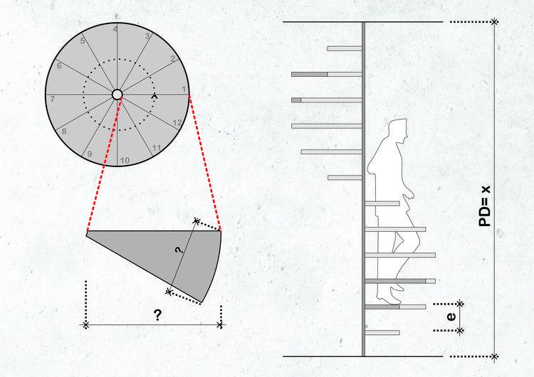 Como Calcular E Projetar Escadas Helicoidais Circular Stairs Spiral Staircase Spiral Stairs
