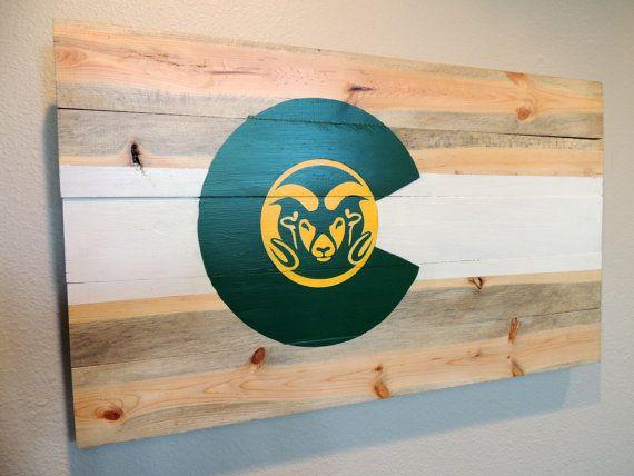 Csu Colorado Flag Wall Art Colorado State By Timbersigns