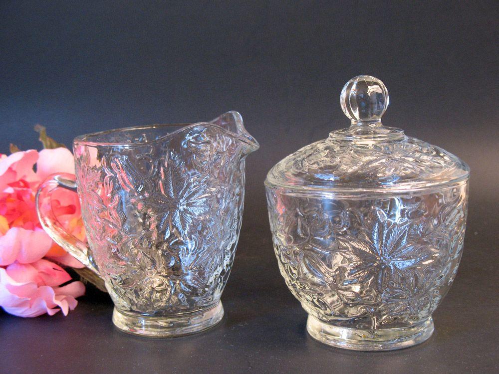 crystal dinnerware | Princess House Fantasia Crystal Creamer and Covered Sugar Bowl Set 532 . & Princess House Fantasia Crystal Creamer and Covered Sugar Bowl Set ...