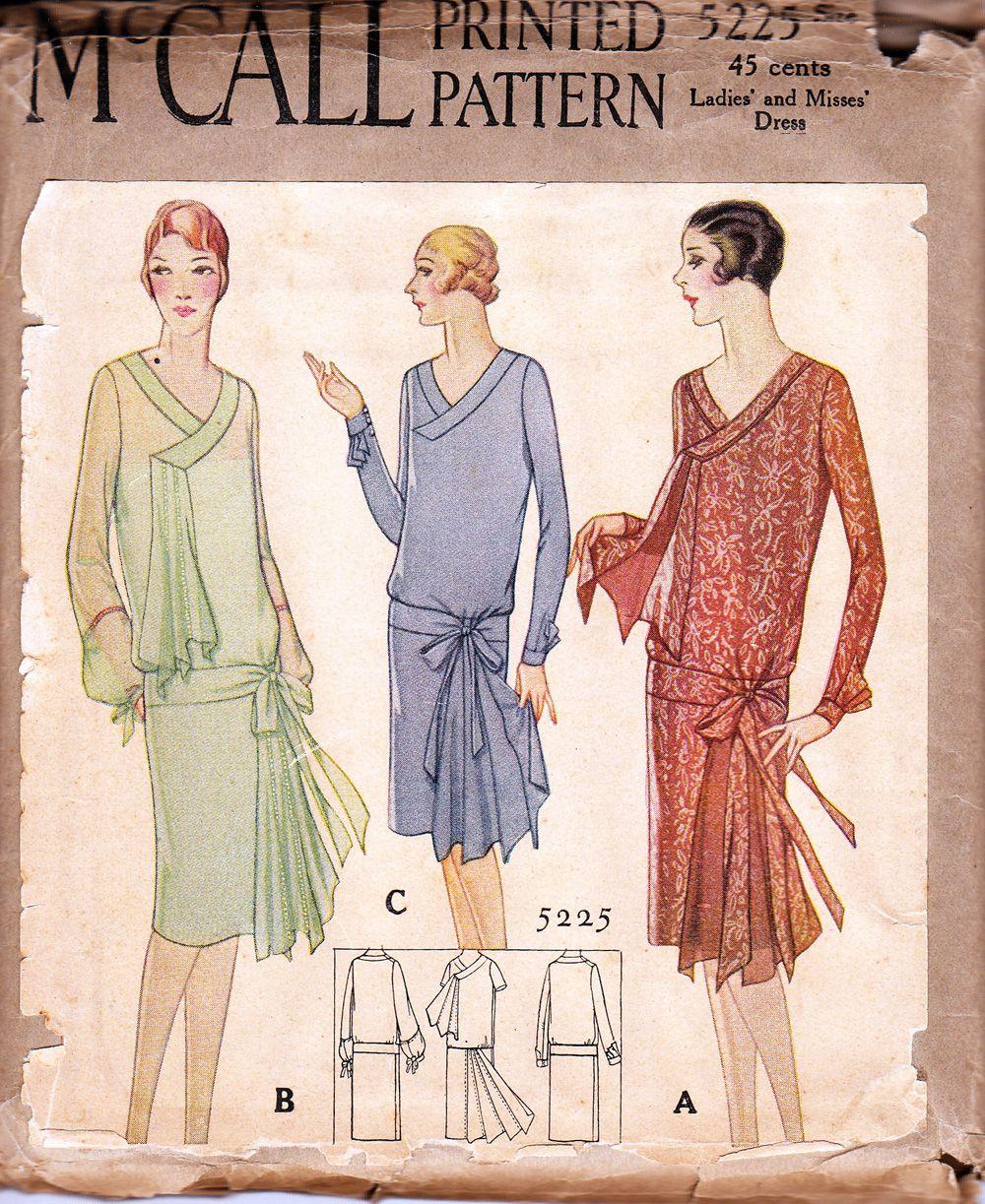McCall 5225 | Años 20, Vestidos años 20 y Bocetos de moda