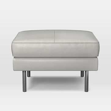 Axel Ottoman, Parc Leather, Taupe