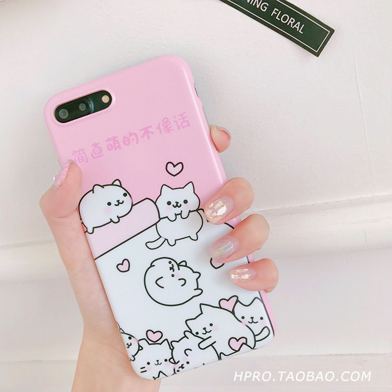 Coque For IPhone 7plus For IPhone 6s Kawaii Case Love Heart Fundas