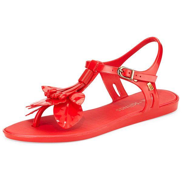 Melissa Shoes Melissa + Salinas Solar Thong Sandal ($47) ❤ liked on Polyvore