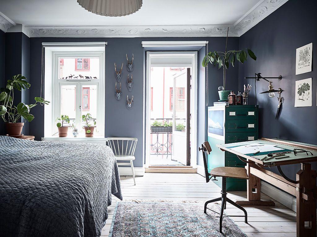 Entrance Blaue schlafzimmerideen, Haus interieu design