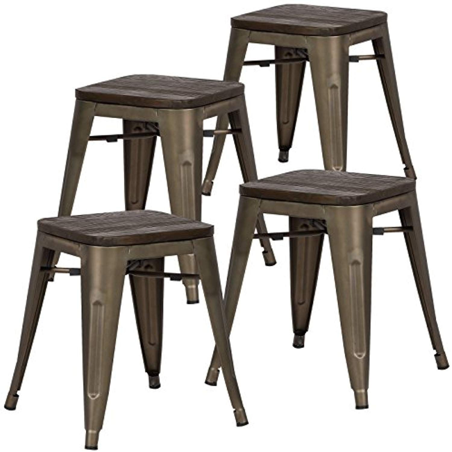 Poly And Bark Trattoria 18 Stool In Elmwood Bronze Set Of 4 You Can Find More Details By Visiting The Imag Side Chairs Dining Kitchen Seating Iron Table