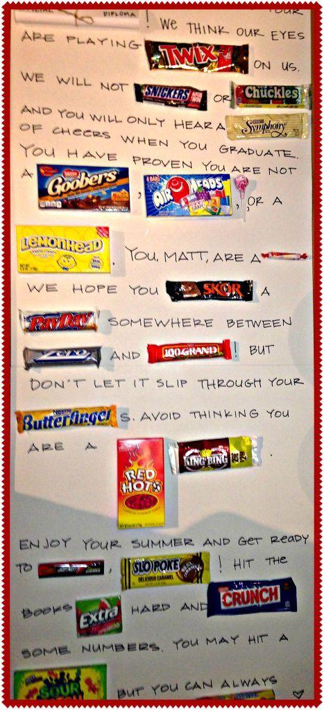 DIY Congrats grad! candy bar poster ll shoppe talk blog Graduation