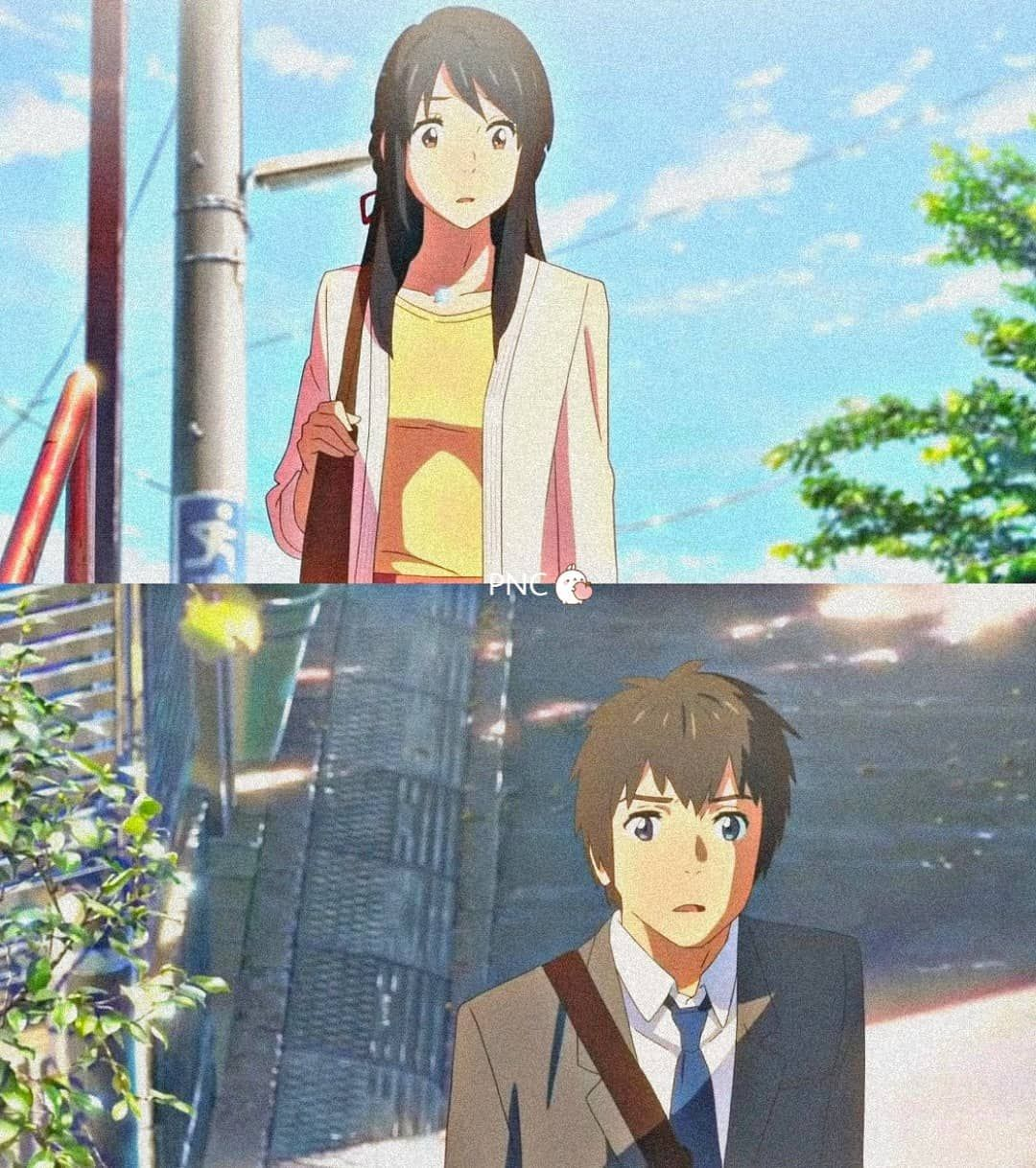 """�ℯ����� on Instagram: """"� ��� �� ��� ���� ������� � ______________»✿«______________ . Here's my second edit of Kimi no Na wa. It shows the last scene of the movie.…�"""