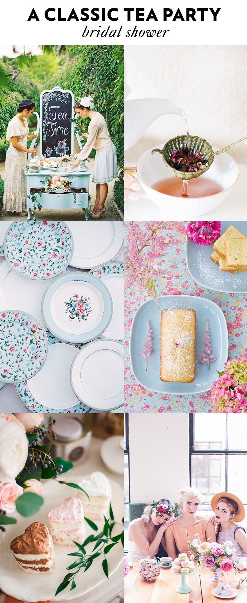 4 tea party bridal shower themes