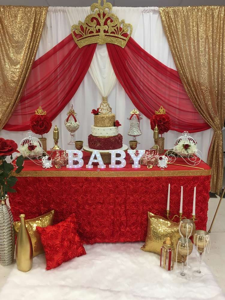 Royal Rose Baby Shower Party Ideas In 2019 Princess Baby Showers