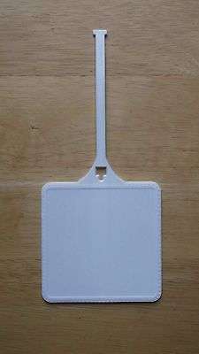 Bag Tags 173516: 100 - New Blank White 3.75 Inch Square Plastic Multi-Use Luggage / Golf Bag Tag BUY IT NOW ONLY: $225.0