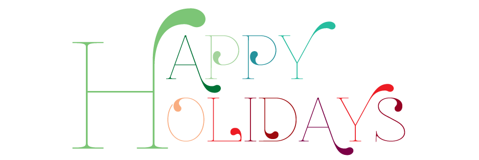 happy holidays clip art