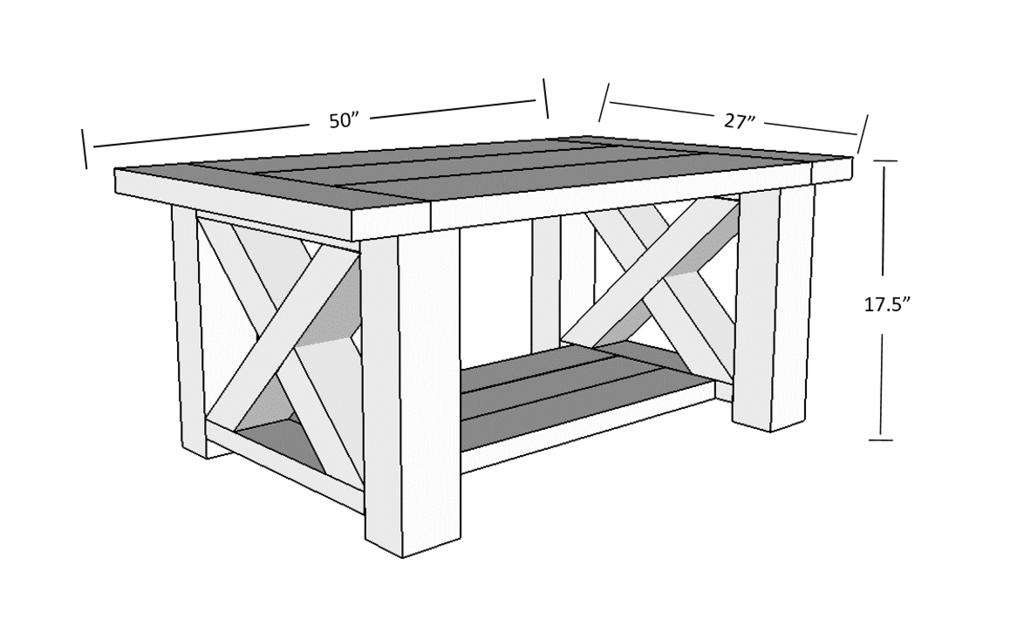 Chunky Farmhouse Coffee Table Coffee Table Farmhouse Diy Furniture Plans Diy Coffee Table