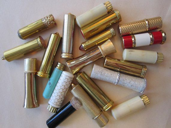 d18a51d373a 20 vintage lipsticks - lipstick tubes - Revlon, Avon, Marian Bialac, Estee  Lauder, Coty,