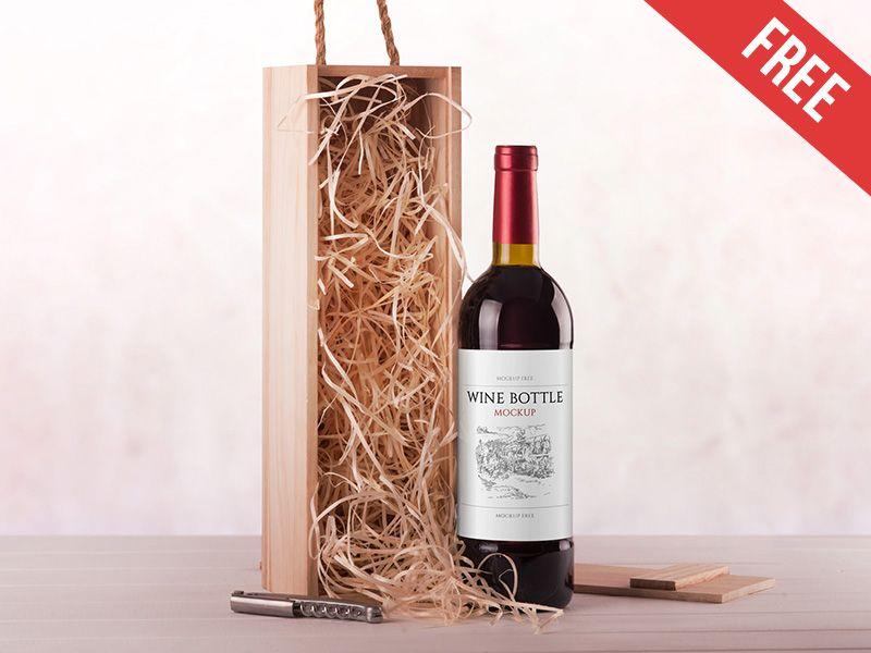 Download Wine Bottle Free Psd Mockup Wine Bottle Bottle Mockup Mockup Free Psd