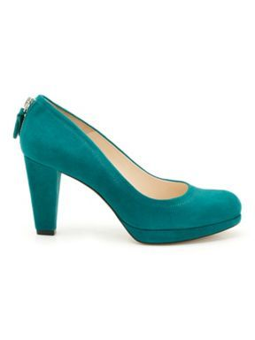 fd0740c477e Mary Portas   Clarks Wesley Court shoe in teal. Heels you can actually walk  in.