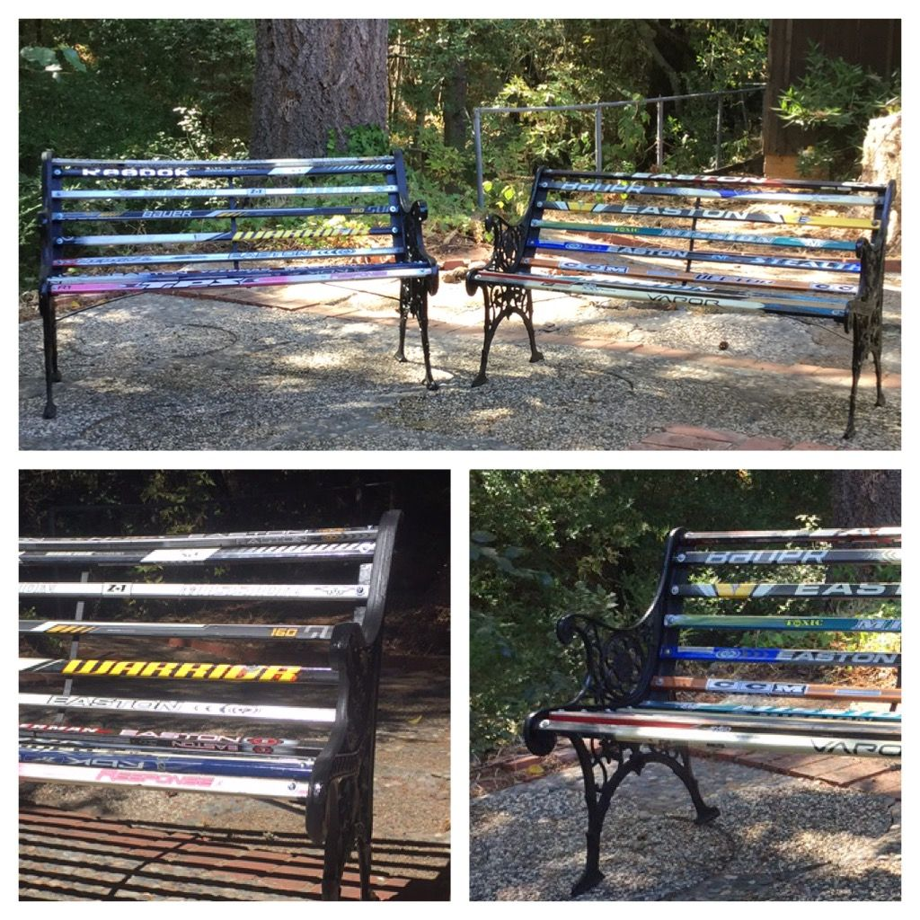 Hockey Stick Benches FOR SALE Instructions Available